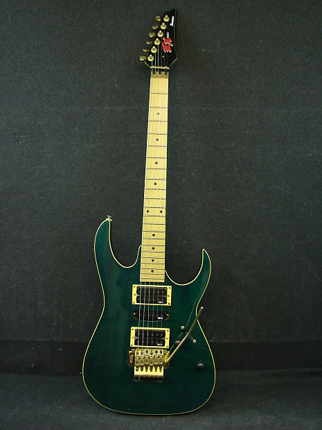 1992 Ibanez Ex Series Green Electric Guitar W Hard Case Reverb