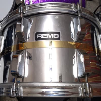 """REMO    Vintage REMO 14"""" X 8"""" Acousticon SX Snare Drum - Quadura Chrome"""