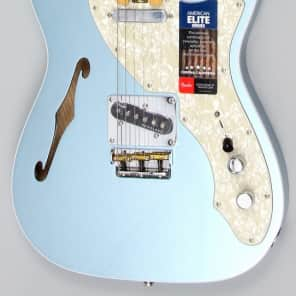 Store Demo | Fender American Elite Telecaster Thinline Mystic Ice Blue for sale