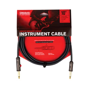 "Planet Waves PW-AG-10 Circuit Breaker 1/4"" TS Straight Instrument Cable w/ Integrated Mute Switch - 10'"