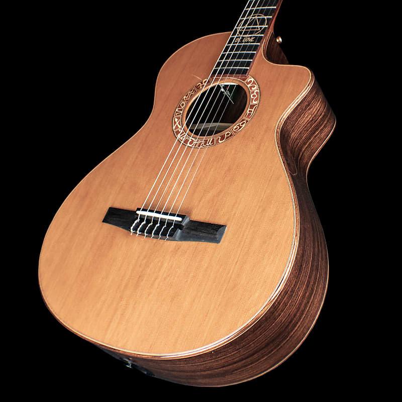 taylor jason mraz signature nylon string guitar natural red reverb. Black Bedroom Furniture Sets. Home Design Ideas