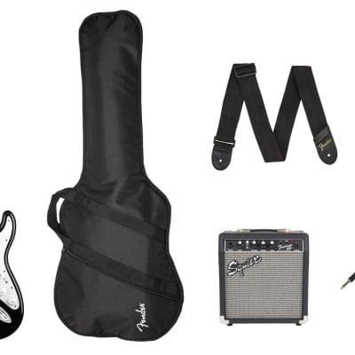 Fender Stratocaster Pack, Laurel Fingerboard, Black, Gig Bag, 10G - 120V for sale