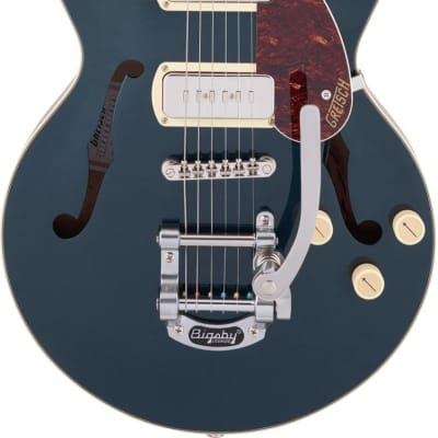 Gretsch G2655T-P90 Streamliner Center Block Jr. Double-Cut P90 w/Bigsby Two-Tone Midnight Sapphire & Vintage Mahogany Stain