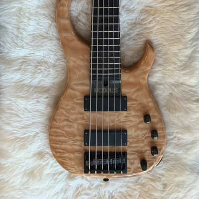 Modulus Graphite - Quantum 6 String Bass Guitar - Active Electronics - Quilted Maple for sale