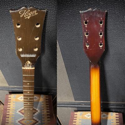 Hoyer 1960's Neck w/ Open-Book Headstock – Vintage Guitar Project LP/SG Style Sunburst Finish for sale