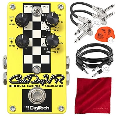 DigiTech CabDryVR Dual Cabinet Simulator Pedal for Electric Guitar with Guitar P