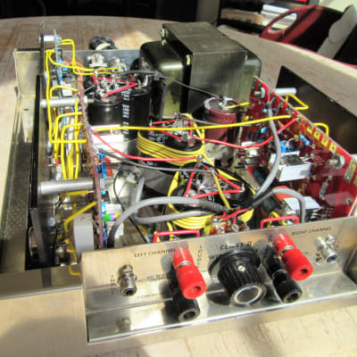 Dynaco 120 Non Tube Amplifier Completely Custom Rebuilt and has a Volume Control