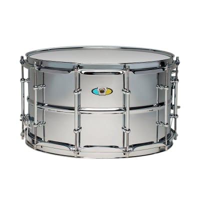 "Ludwig LW0814SL Supralite 8x14"" Steel Snare Drum"