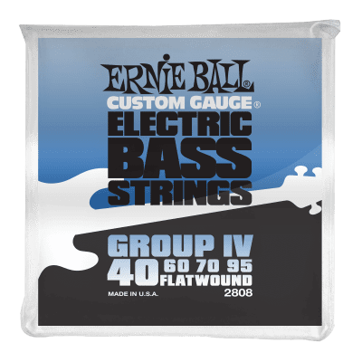 Ernie Ball Flatwound Group IV Electric Bass Strings 40-95