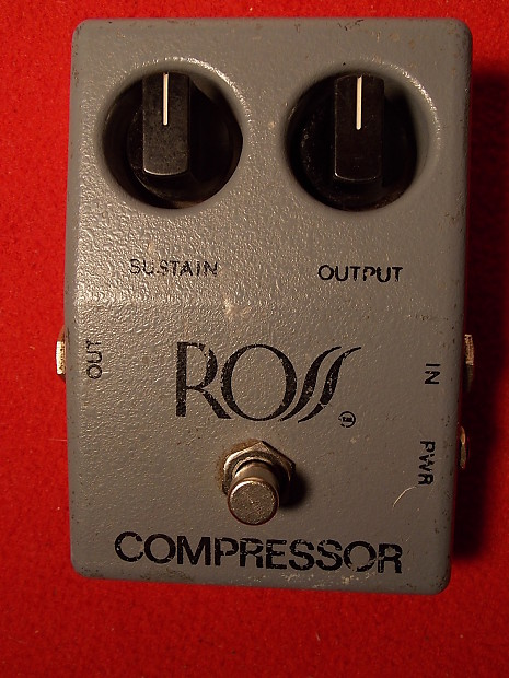 Ross Compressor Pedal rare original 1978 first year holy grail of  comp/sustain pedals