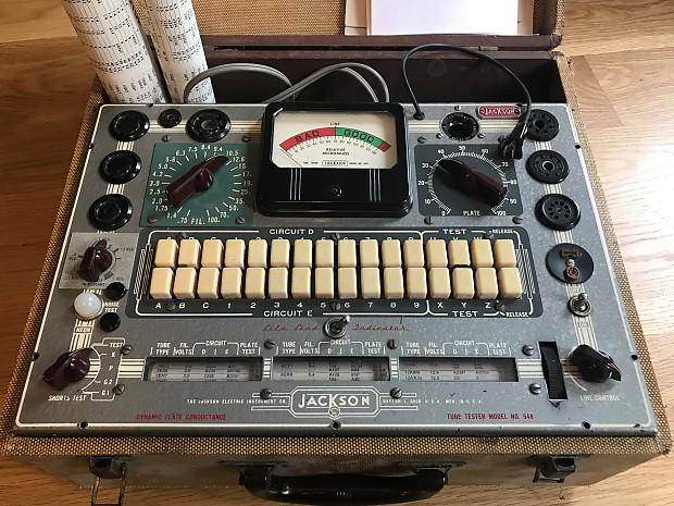 Circuito Jackson : Jackson tube tester model 648 s 1964 reverb