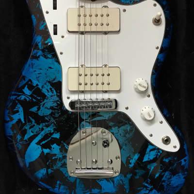 Wilkins Custom Made Jazzmaster 2007  Stunning BLUE FOIL Finish for sale