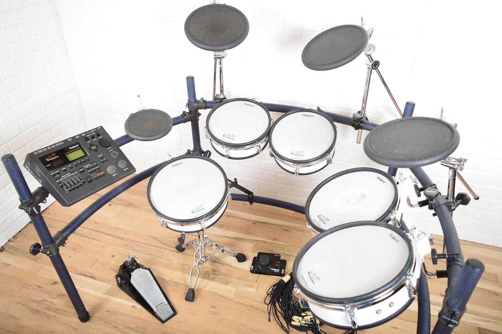 Roland Td 10 Electronic Drum Set Kit Excellent Used Td10 V Drums
