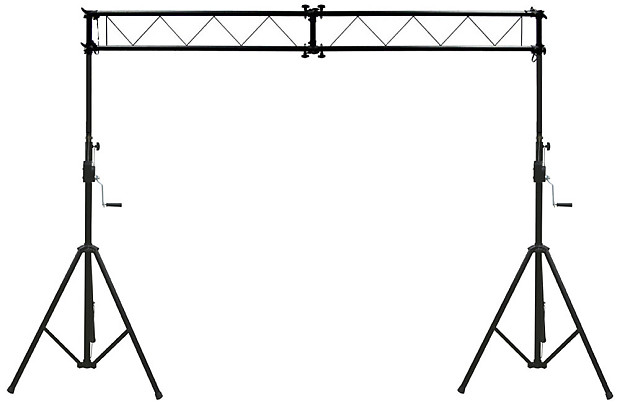 Pro Audio DJ Light Lighting Fixture Portable Truss Trussing With 10 Foot Crank Stands Package