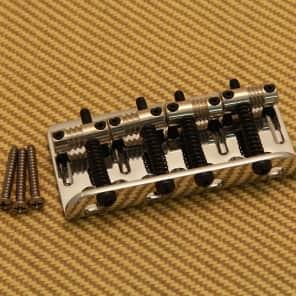Fender 005-8396-000 Genuine Fender Deluxe Chrome 4-String Bass Bridge w/ Screws