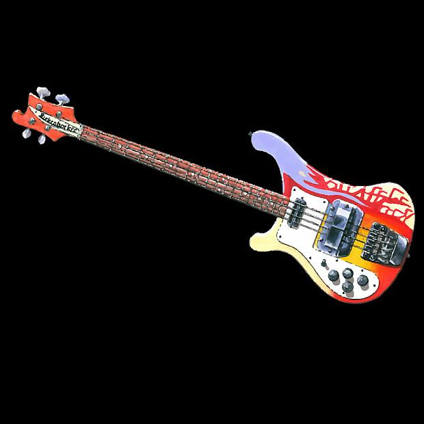 McCartney Rickenbacker 4001 Bass Guitar T-Shirt Black