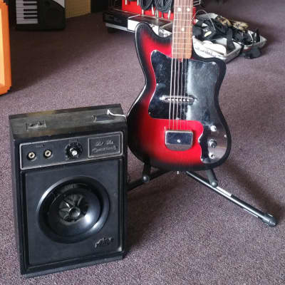 Deville Japanese Electric Guitar w/Teisco Amp 60's vintage for sale