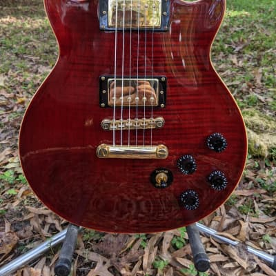 Epiphone Genesis Deluxe Pro Dark Cherry Flame Maple for sale