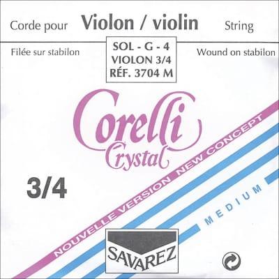 Corelli Corelli Crystal 3/4 Violin G String - Silver/Stabilon - Medium Gauge