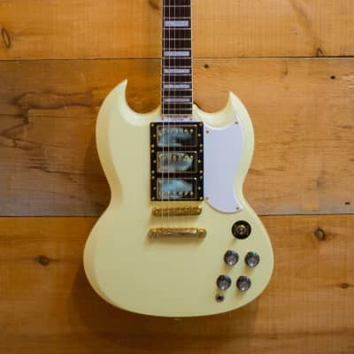 Palermo Custom Shop The Sixty-One Custom Limited Guitar Cream W/ Gibson Hardshell Case NEW for sale