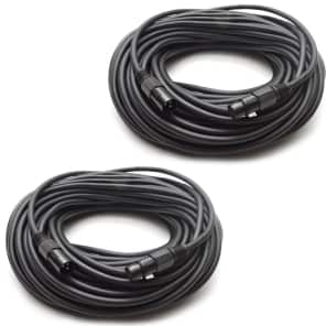 Seismic Audio SAMIC100.2-2 18-Gauge XLR Male to Female Mic Cables - 100' (2-Pack)