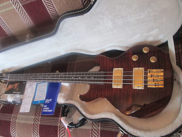 Mint USA Gibson Les Paul Double Cut 2008 Root Beer/Gold W/OHSC