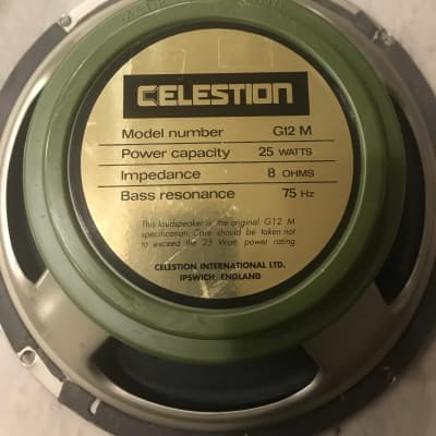 Two Celestion G12 M (vintage) 1980's