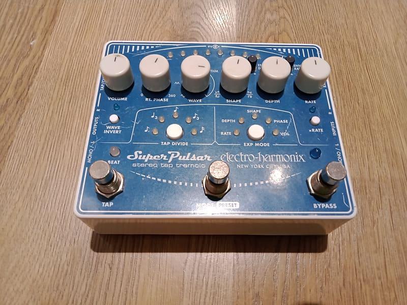 electro harmonix super pulsar tremolo pedal central reverb. Black Bedroom Furniture Sets. Home Design Ideas