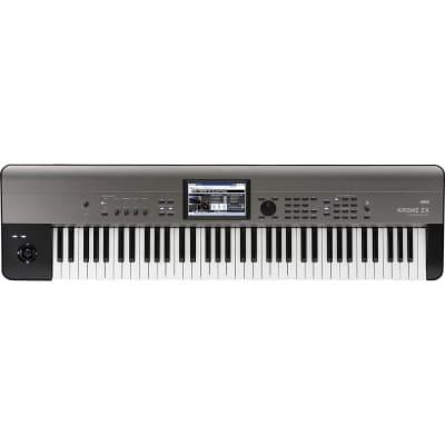 Korg Krome EX 73 Keyboard Workstation, 73‑Key, Black