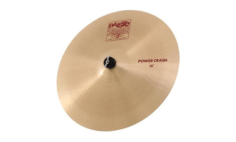 paiste 2002 power crash cymbal 18 inch reverb. Black Bedroom Furniture Sets. Home Design Ideas