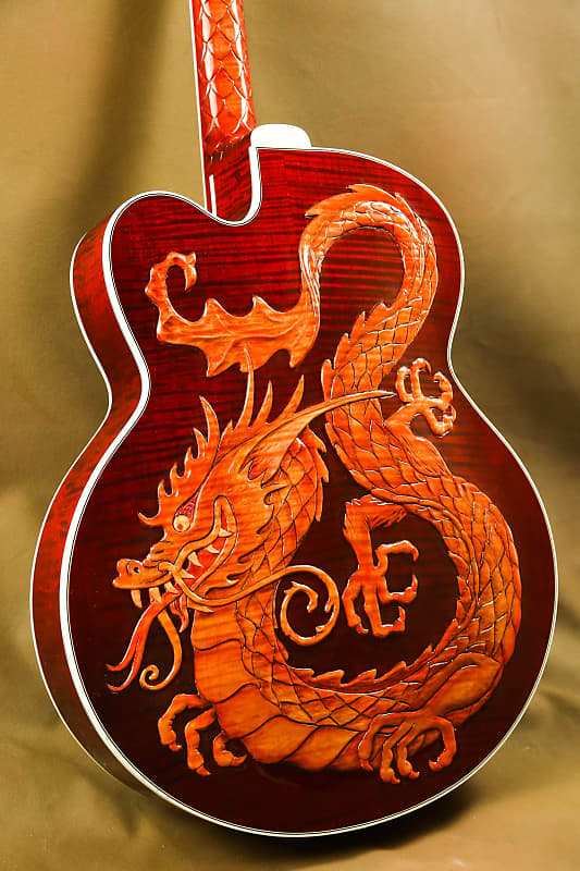 Gibson Super 400 China Dragon Bruce Kunkel Custom