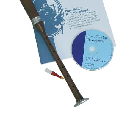Roosebeck Bagpipe Practice Chanter Sheesham and Book and CD