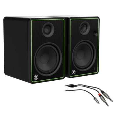 "Mackie CR4-X Series 4"" Creative Reference Studio Monitors (Pair) with 3' REAN Stereo Breakout Cable Bundle"
