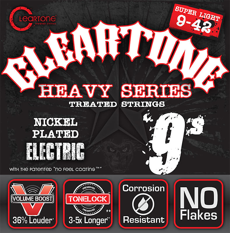 new cleartone 9509 heavy series electric guitar strings 9 42 reverb. Black Bedroom Furniture Sets. Home Design Ideas
