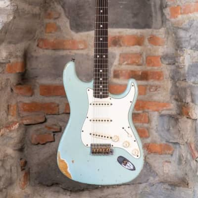 Fender custom shop stratocaster 68 sonic blue relic 2007 used for sale