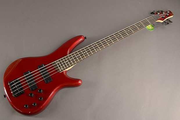 ibanez sr255ca 5 strings electric bass guitar candy apple red reverb. Black Bedroom Furniture Sets. Home Design Ideas