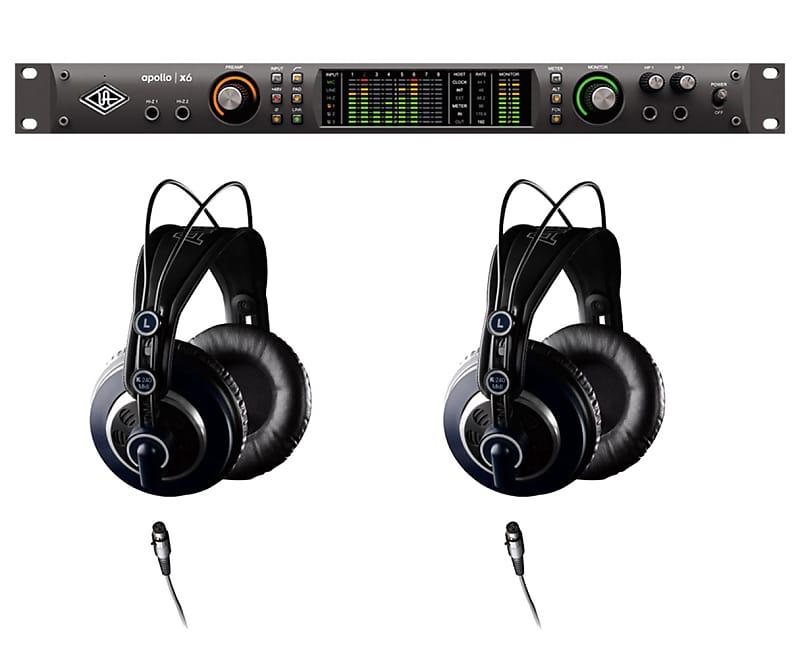 Universal Audio Apollo X6 Thunderbolt 3 + AKG K240 MKII | Reverb