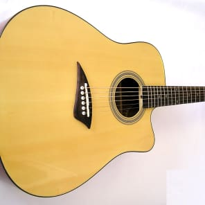 Kona Pro Cutaway Acoustic Guitar - Gloss Finish for sale