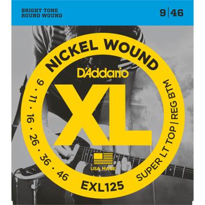 D'Addario EXL125 Nickel Wound Electric Strings -.009-.046 Super Light Top/Regular Bottom