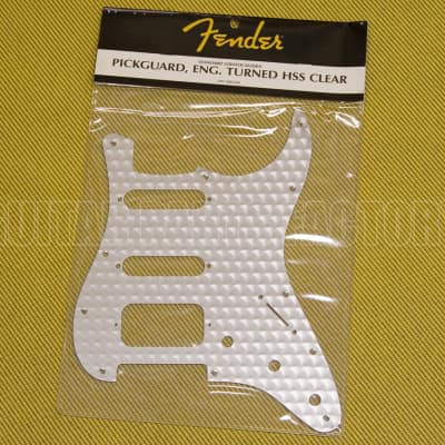 099-1380-000 Fender Engine Turned Clear Aluminum HSS Stratocaster Pickguard image