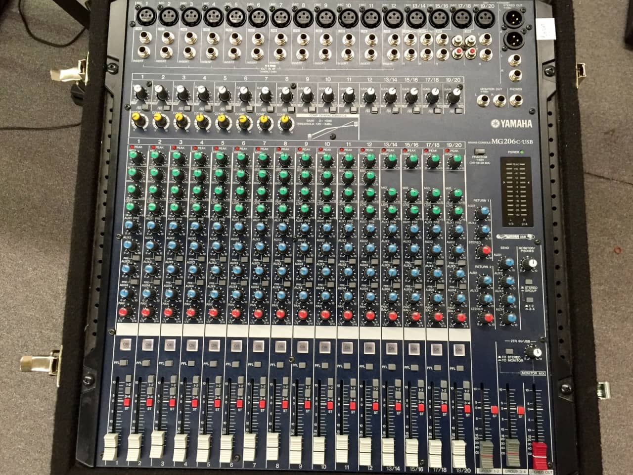 Yamaha mg206c usb mixing console main street music reverb for Yamaha mixing boards