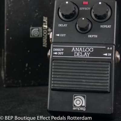 Ampeg A-8 Analog Delay 1982 Japan MN3005 BBD with MN3101 Clock driver