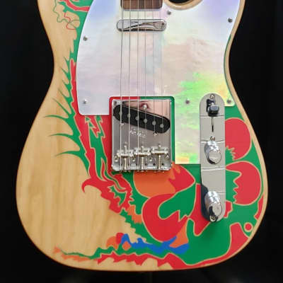 Fender Artist Series Jimmy Page Telecaster Natural with Dragon Graphic