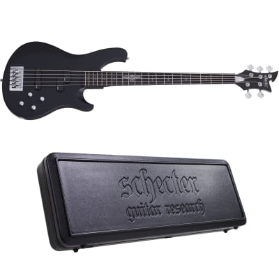 Schecter Johnny Christ-5 Bass Satin Black SBK 5-String Electric Bass + Hard Case Johnny Christ 5 for sale