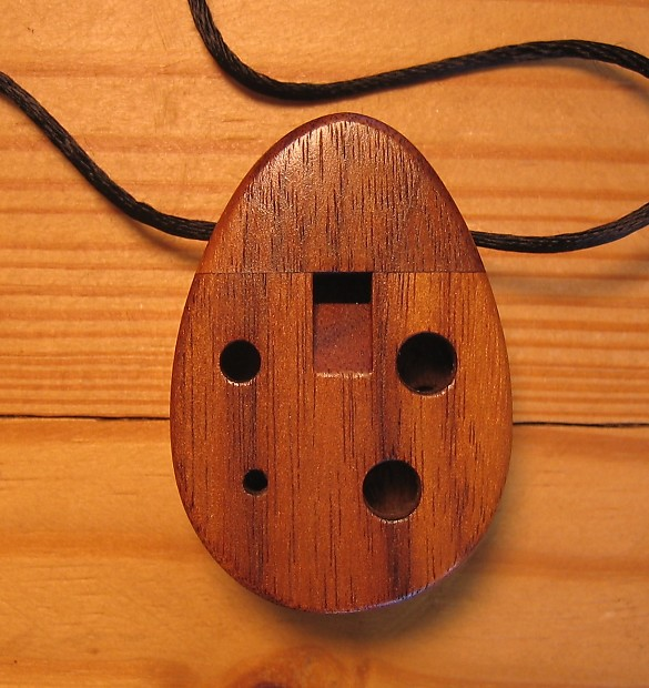 Wood ocarina inline 6 hole necklace junior ocarina walnut reverb wood ocarina inline 6 hole necklace junior ocarina walnut made in usa aloadofball Image collections