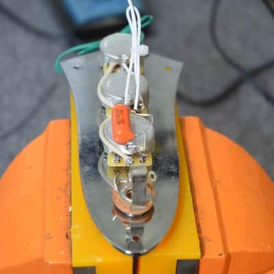 Hoagland Custom Standard Jazz Bass Wiring Harness - HANDCRAFTED - features an Orange Drop Cap
