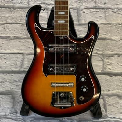 Vintage 1960's Dyko 2-Pickup Electric Guitar Sunburst for sale