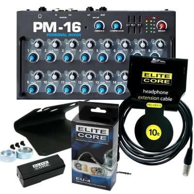 Elite Core PM-16-PKGA Personal Mixer Bundle with EU-4 and accessories