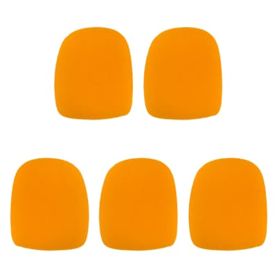 Microphone Windscreen - 5 Pack - Orange - Fits Shure SM58, Beta 58A & Similar - Vocal Mic Cover New