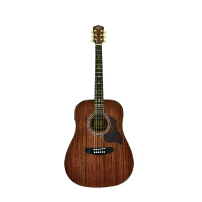 J&D Acoustic Electric Guitar, Solid Mahogany Top, Back & Sides, On-Board Pre-Amp by CNZ Audio for sale